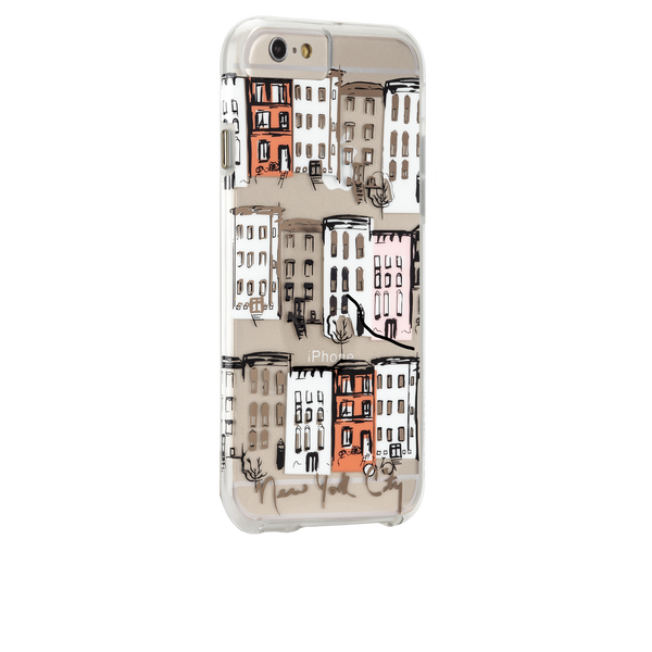 iPhone 6s Plus Clear Naked Tough City Prints - New York - West Village Case - image angle 1