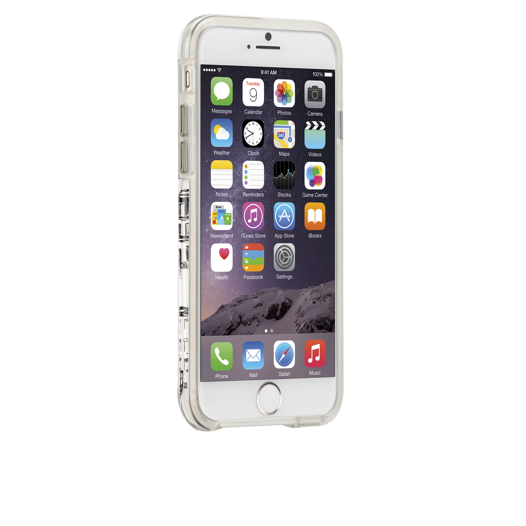 iPhone 6s Plus Clear Naked Tough City Prints - New York - West Village Case - image angle 2