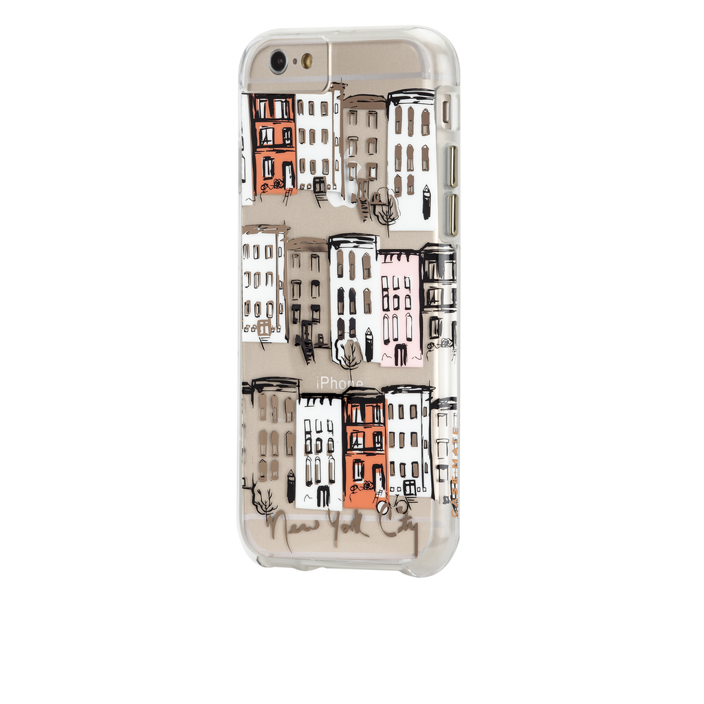 iPhone 6s Plus Clear Naked Tough City Prints - New York - West Village Case - image angle 3