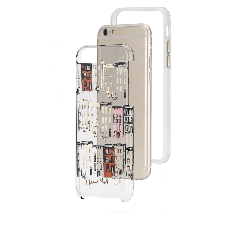 iPhone 6s Plus Clear Naked Tough City Prints - New York - West Village Case - image angle 8