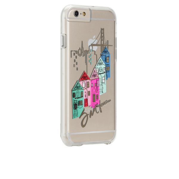 iPhone 6s Plus Clear Naked Tough City Prints - San Francisco - Discover San Francisco Case - image angle 1