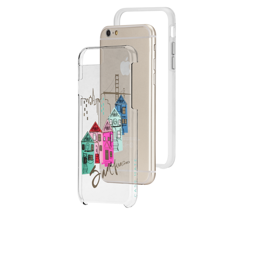 iPhone 6s Plus Clear Naked Tough City Prints - San Francisco - Discover San Francisco Case - image angle 8