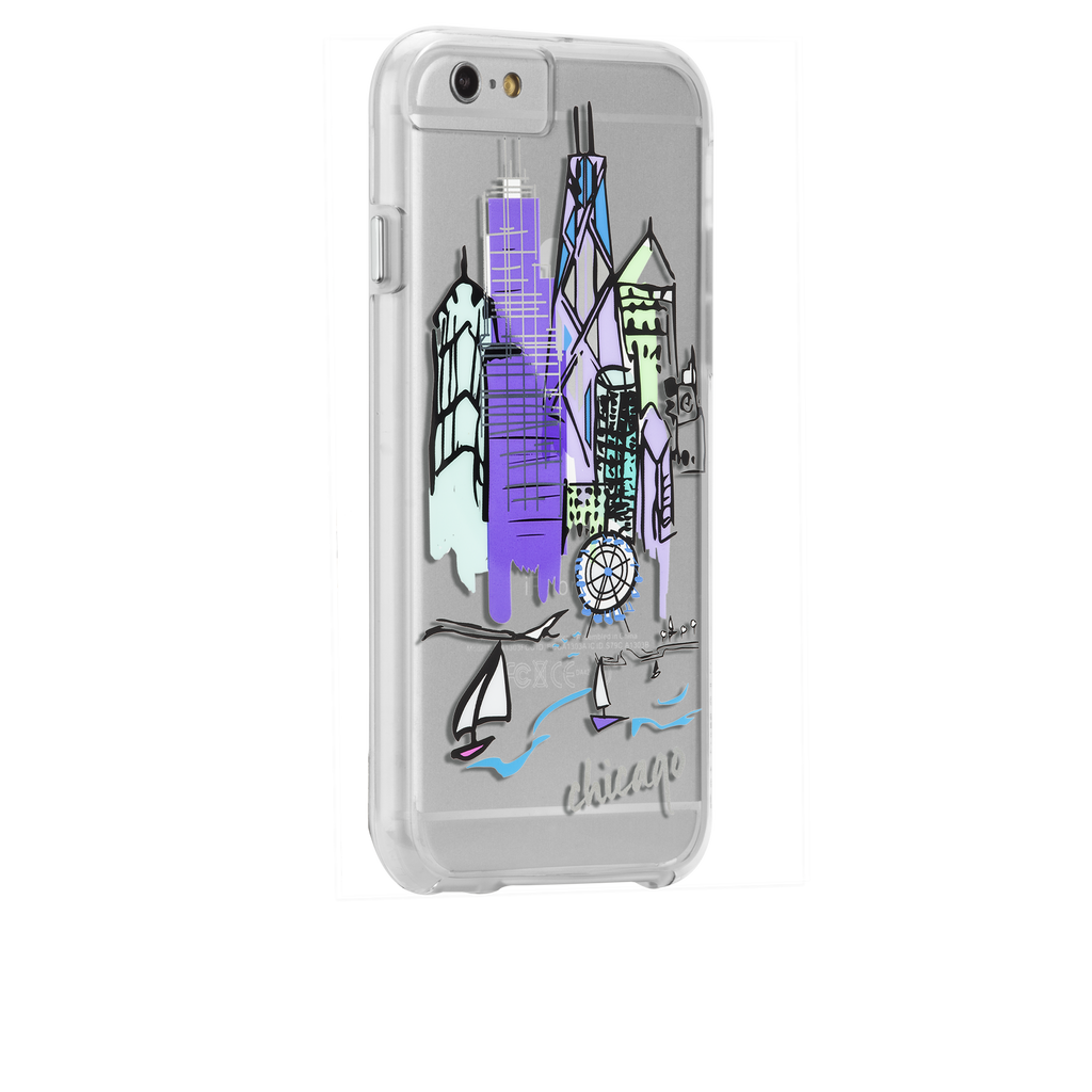 iPhone 6s Clear Naked Tough City Prints - Chicago - Chicago Case - image angle 1