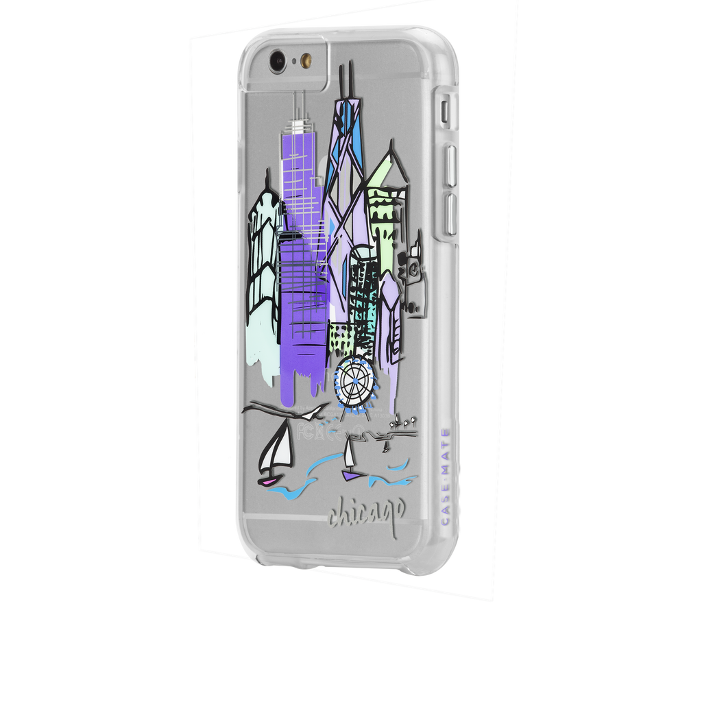 iPhone 6s Clear Naked Tough City Prints - Chicago - Chicago Case - image angle 3