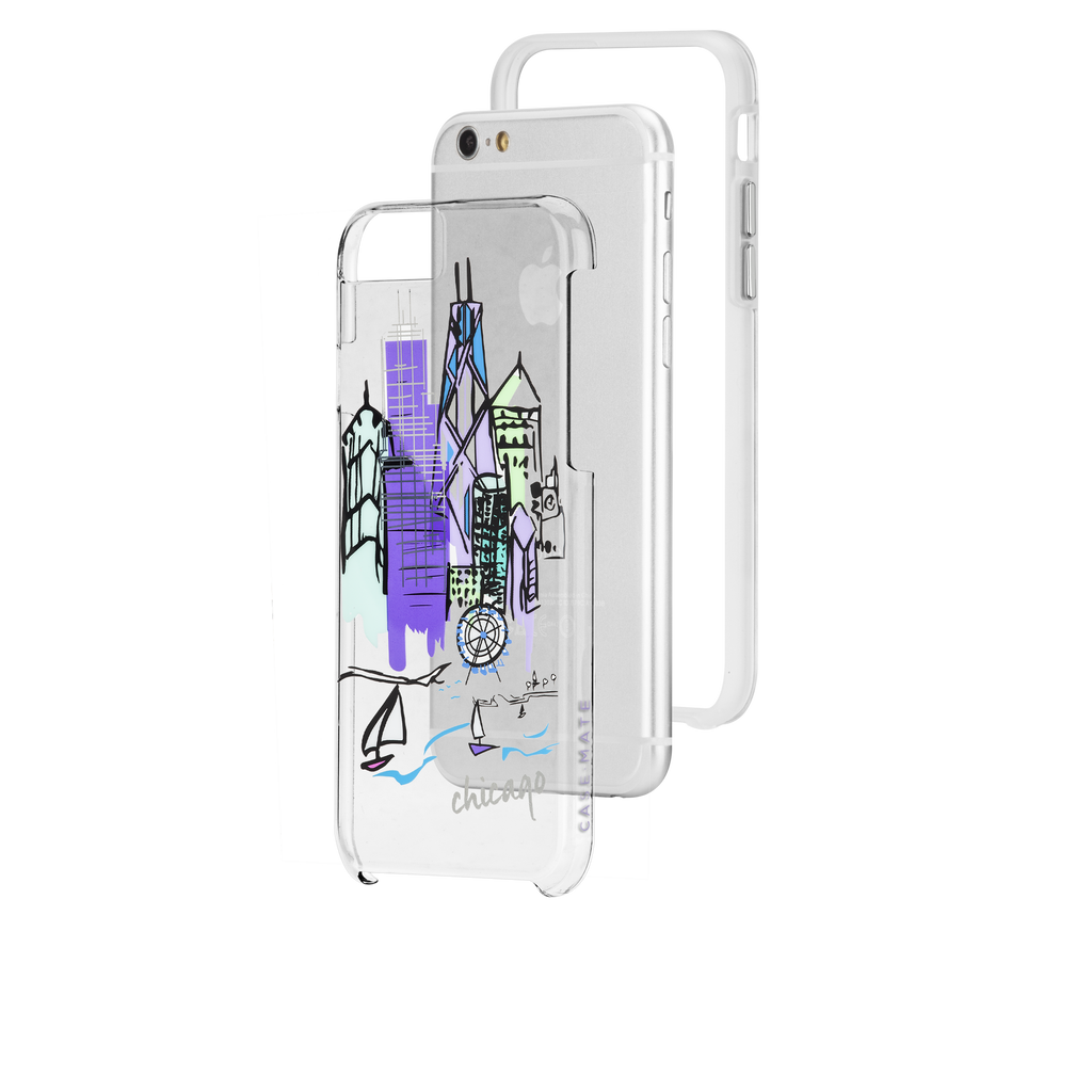 iPhone 6s Clear Naked Tough City Prints - Chicago - Chicago Case - image angle 8