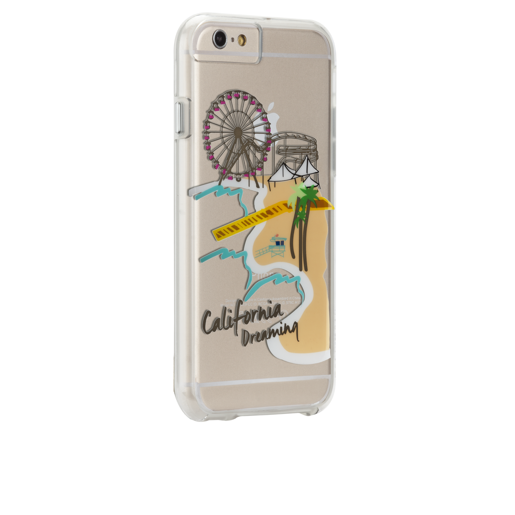 iPhone 6s Clear Naked Tough City Prints - Los Angeles - Santa Monica Case - image angle 1