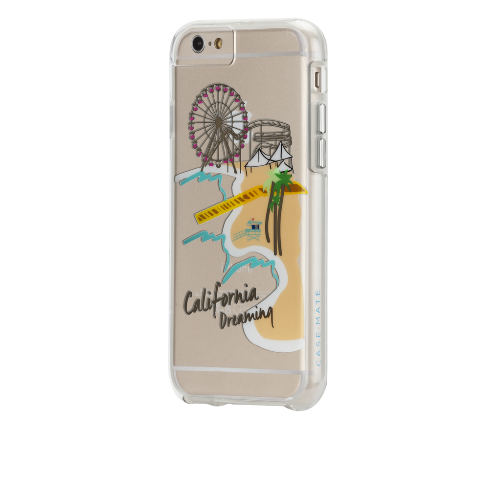 iPhone 6s Clear Naked Tough City Prints - Los Angeles - Santa Monica Case - image angle 3