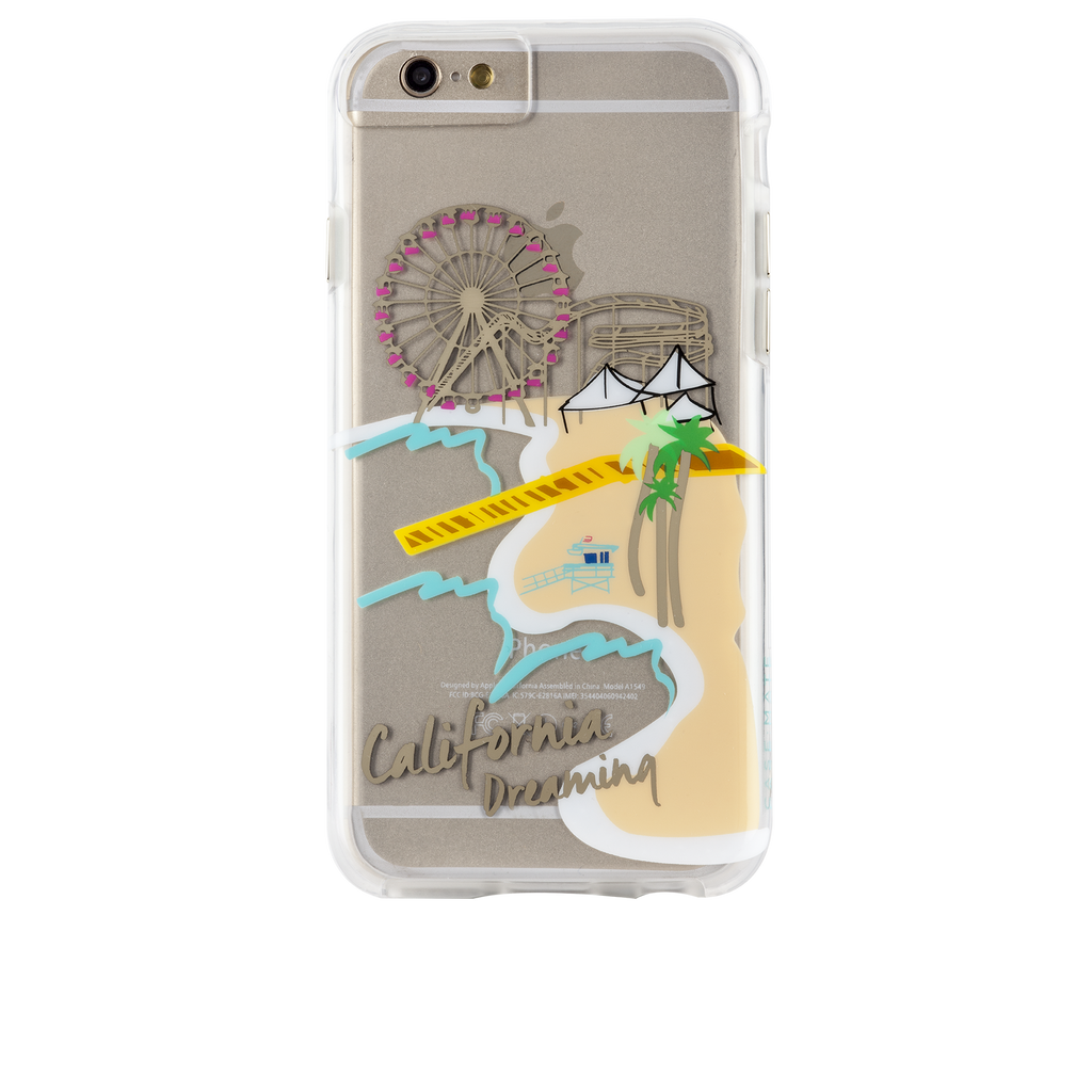 iPhone 6s Clear Naked Tough City Prints - Los Angeles - Santa Monica Case - image angle 7