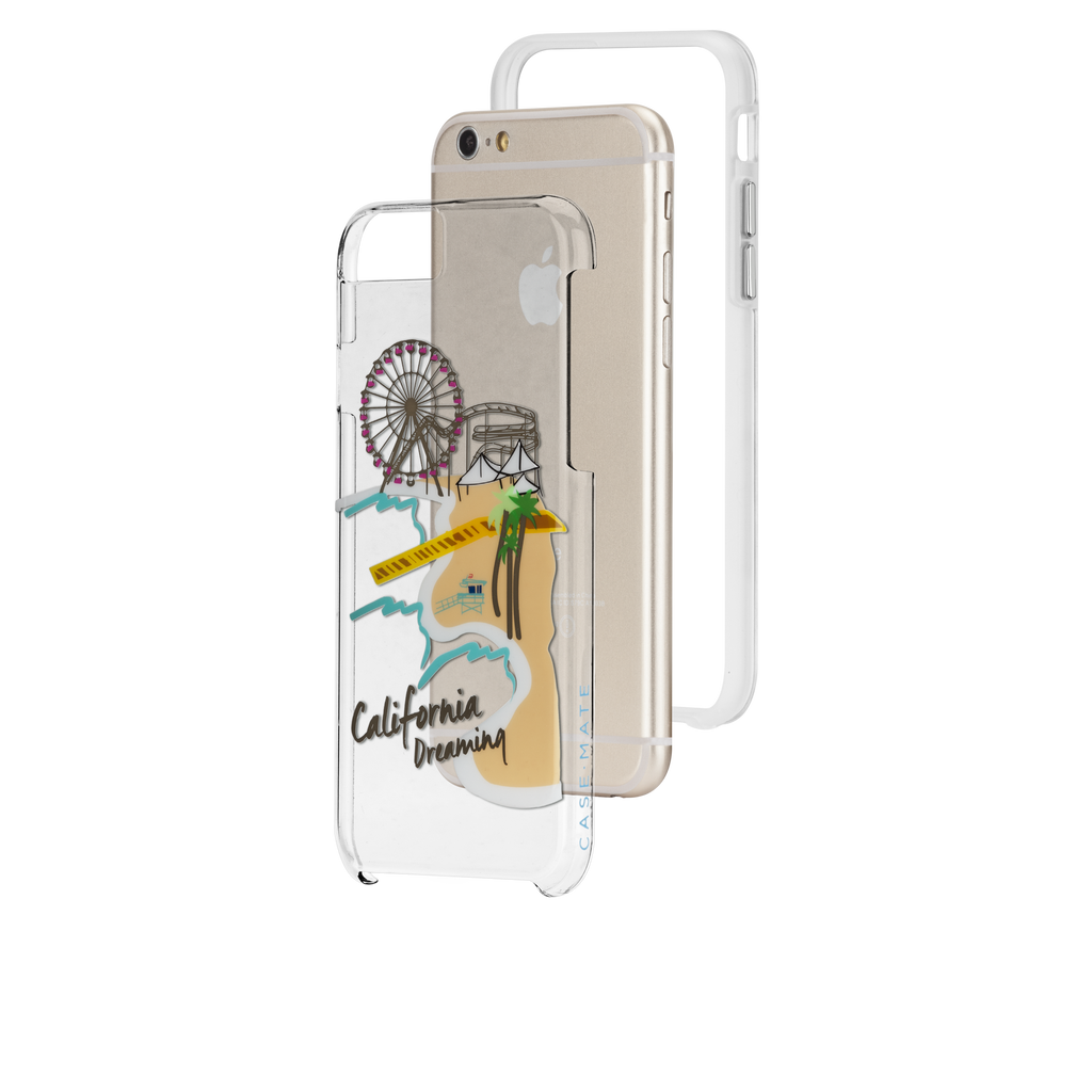 iPhone 6s Clear Naked Tough City Prints - Los Angeles - Santa Monica Case - image angle 8