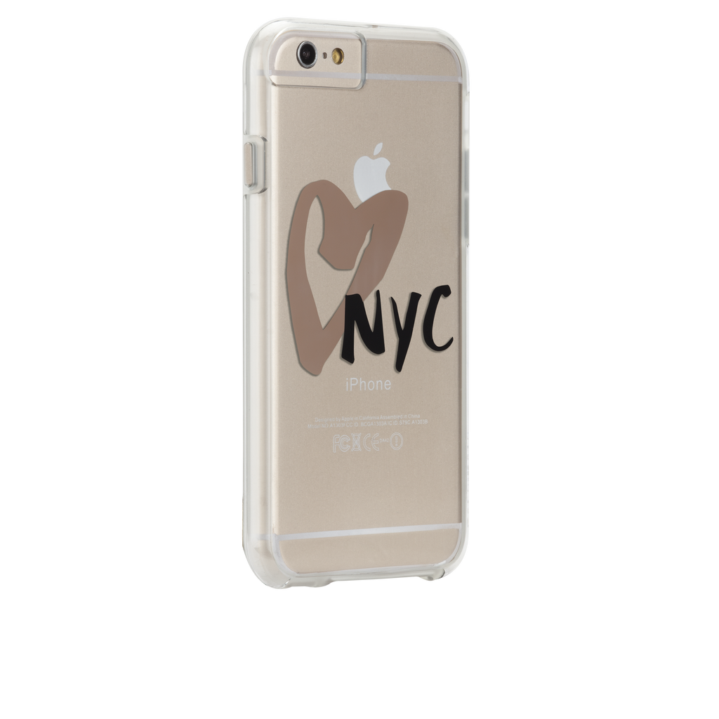 iPhone 6s Clear Naked Tough City Prints - New York - I Heart NYC Case - image angle 1