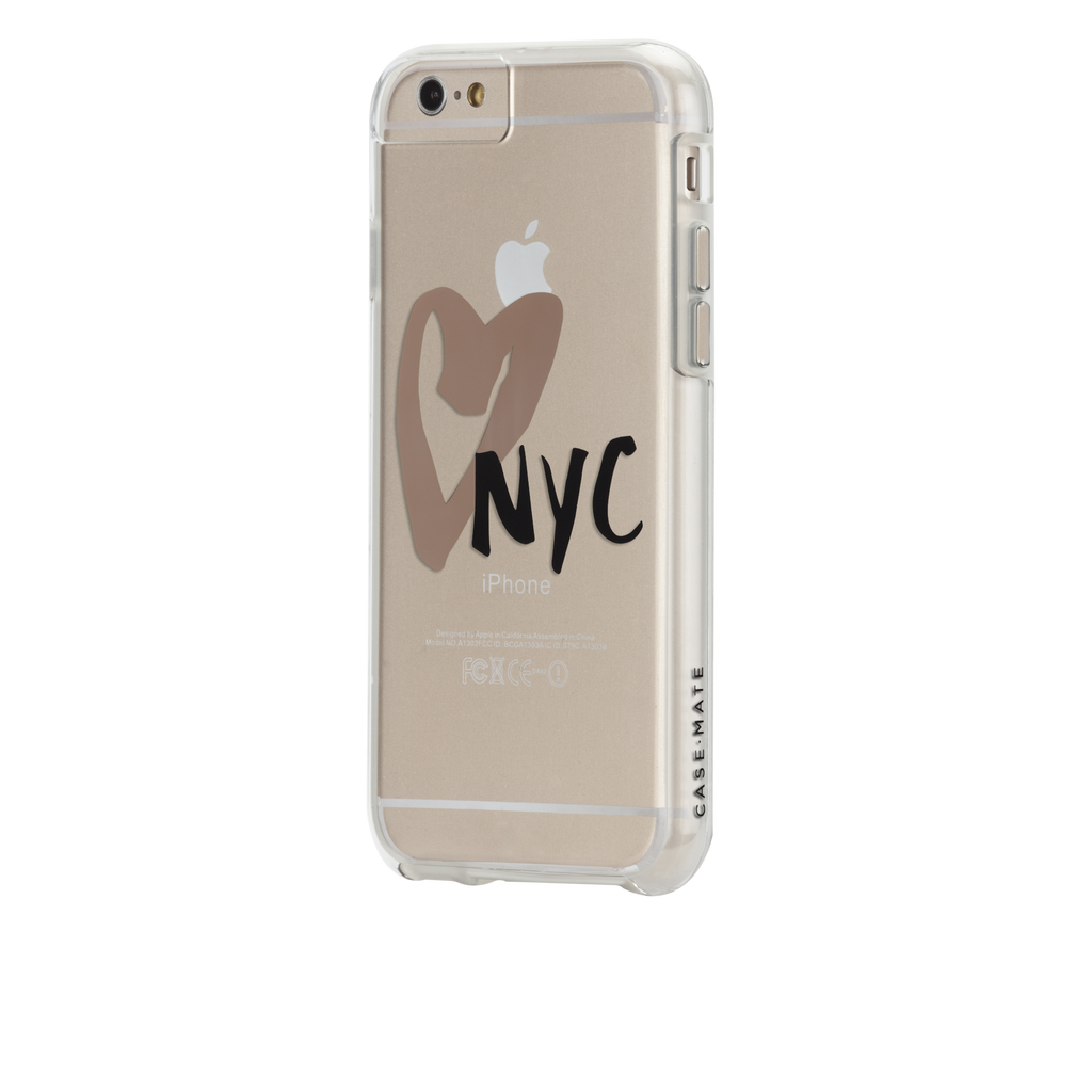 iPhone 6s Clear Naked Tough City Prints - New York - I Heart NYC Case - image angle 3