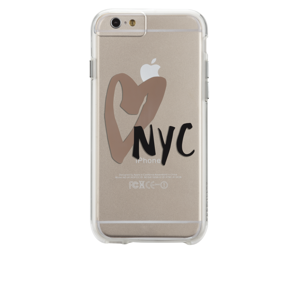 iPhone 6s Clear Naked Tough City Prints - New York - I Heart NYC Case - image angle 7