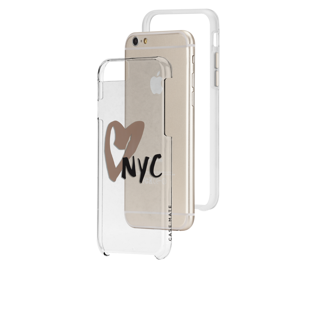 iPhone 6s Clear Naked Tough City Prints - New York - I Heart NYC Case - image angle 8