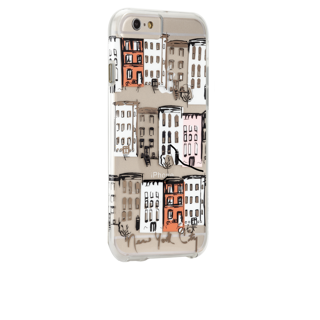 iPhone 6s Clear Naked Tough City Prints - New York - West Village Case - image angle 1