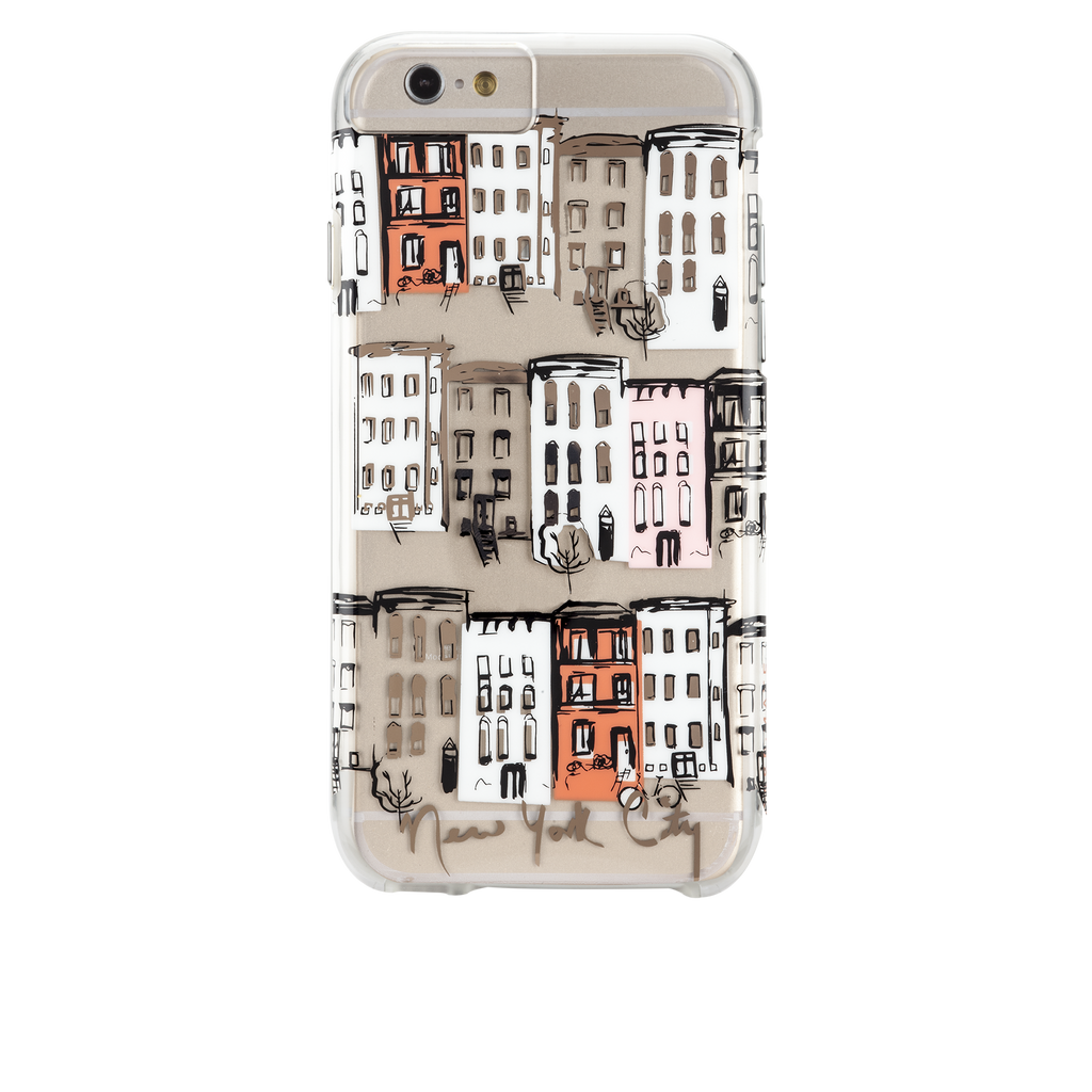 iPhone 6s Clear Naked Tough City Prints - New York - West Village Case - image angle 7