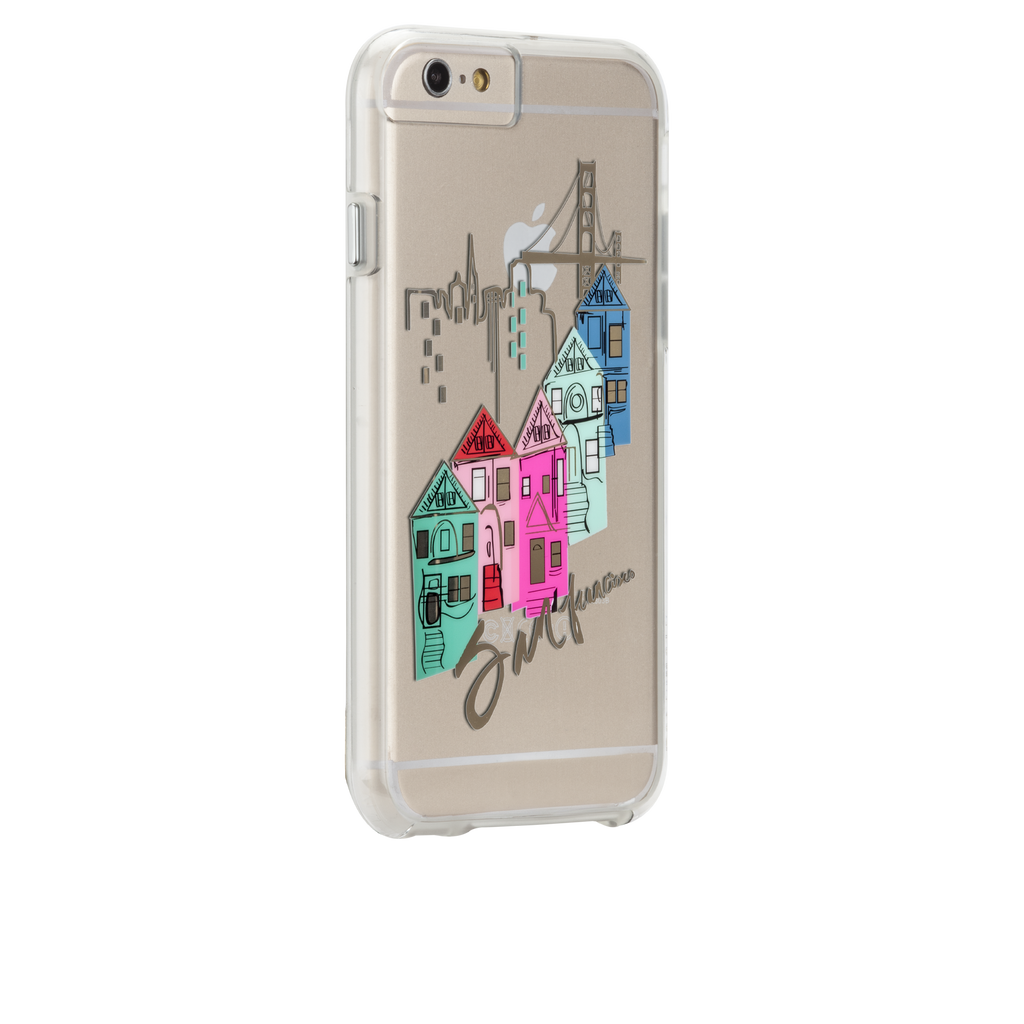 iPhone 6s Clear Naked Tough City Prints - San Francisco - Discover San Francisco Case - image angle 1