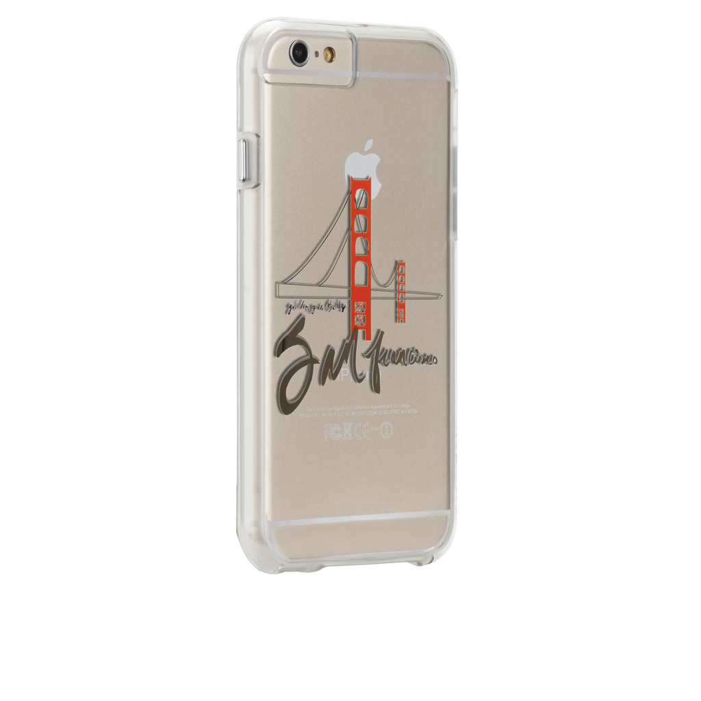 iPhone 6s Clear Naked Tough City Prints - San Francisco - Golden Gate Case - image angle 1