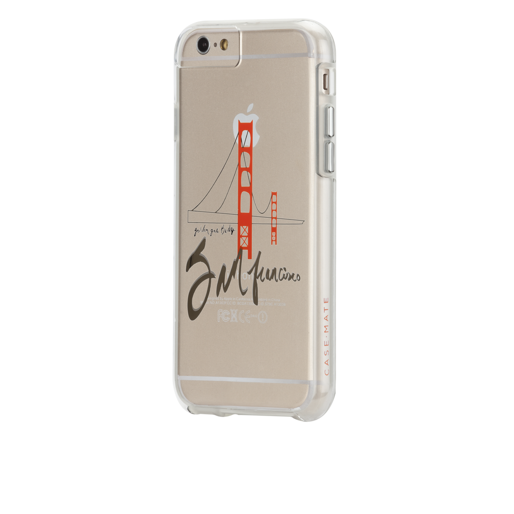 iPhone 6s Clear Naked Tough City Prints - San Francisco - Golden Gate Case - image angle 3