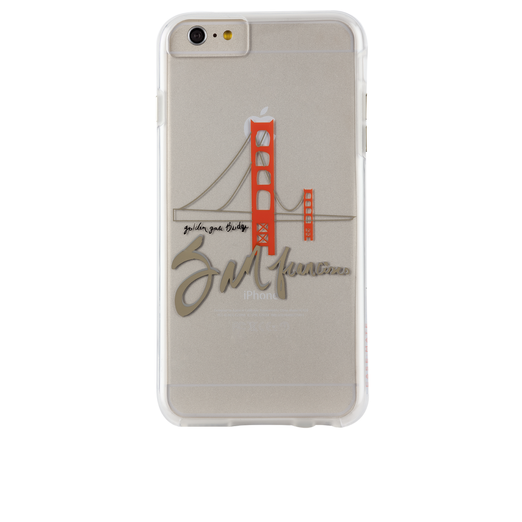 iPhone 6s Clear Naked Tough City Prints - San Francisco - Golden Gate Case - image angle 7