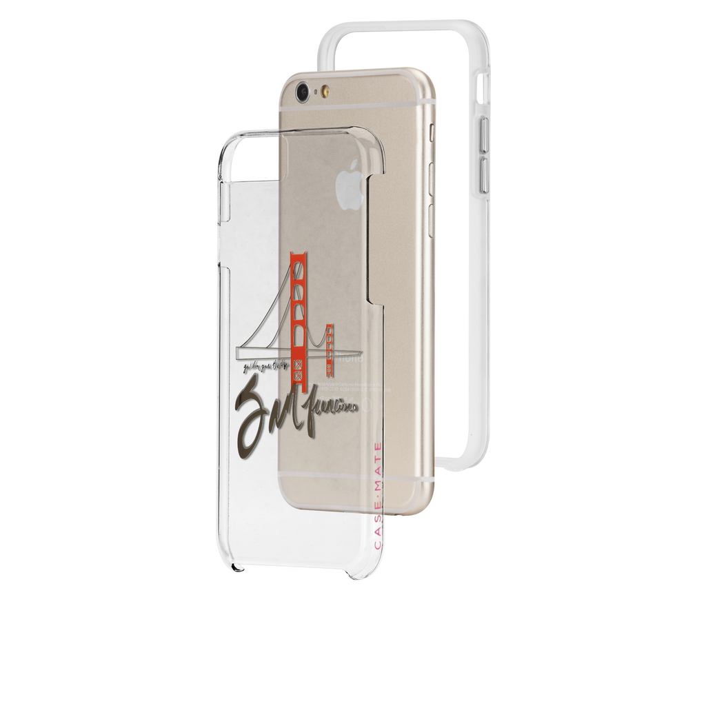 iPhone 6s Clear Naked Tough City Prints - San Francisco - Golden Gate Case - image angle 8