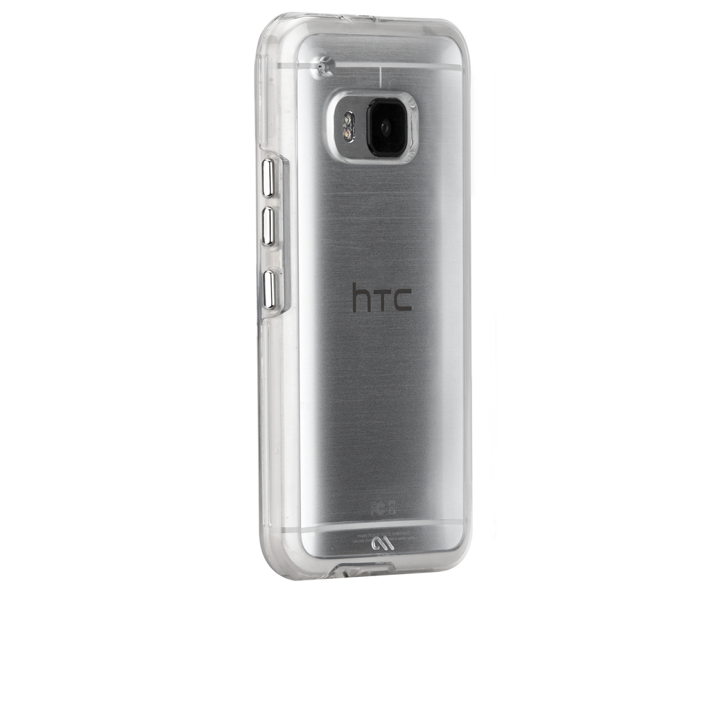 HTC One M9 Clear & Clear Naked Tough Case - image angle 1