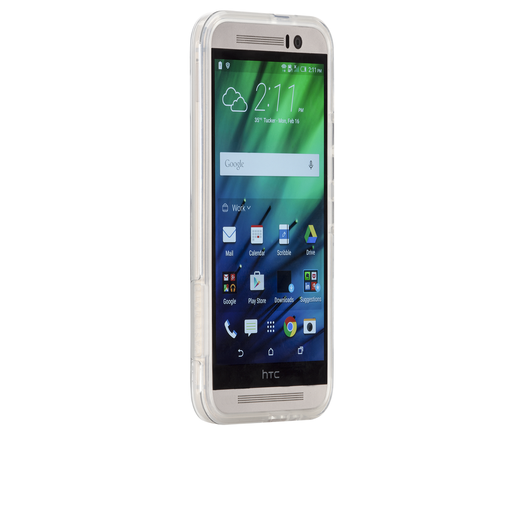 HTC One M9 Clear Naked Tough Case - image angle 2