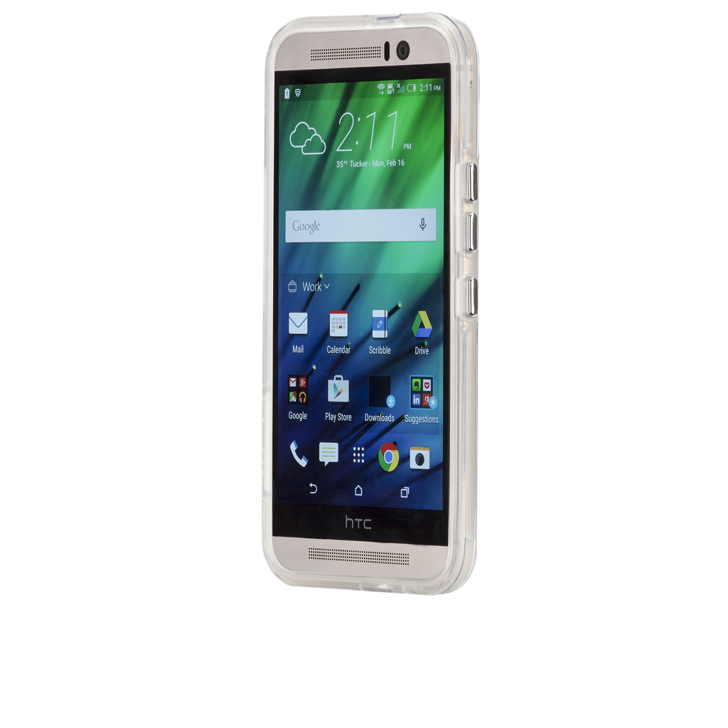 HTC One M9 Clear Naked Tough Case - image angle 4