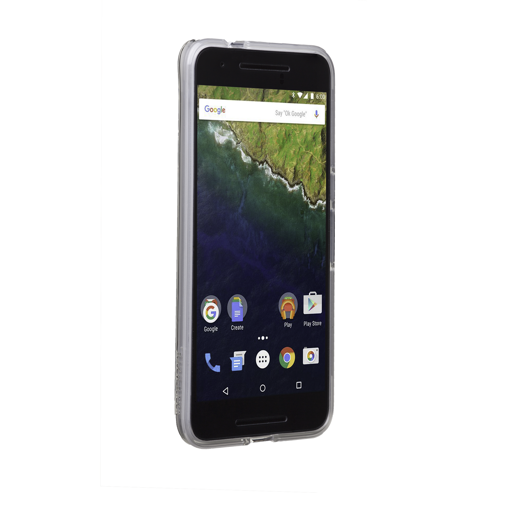Huawei Nexus 6P Clear Naked Tough Case - image angle 2