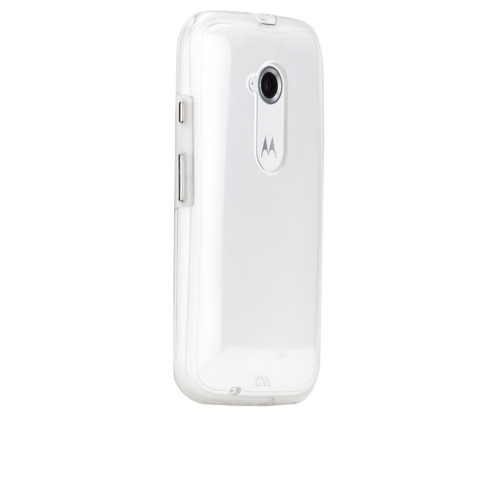 Moto E (2nd Gen.) Clear Naked Tough Case - image angle 1