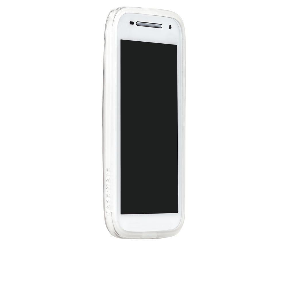 Moto E (2nd Gen.) Clear Naked Tough Case - image angle 2