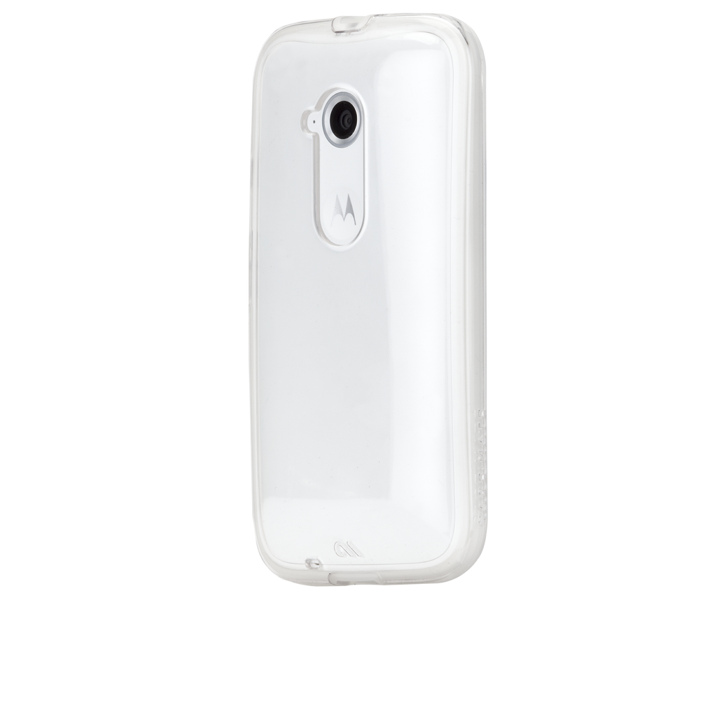 Moto E (2nd Gen.) Clear Naked Tough Case - image angle 3
