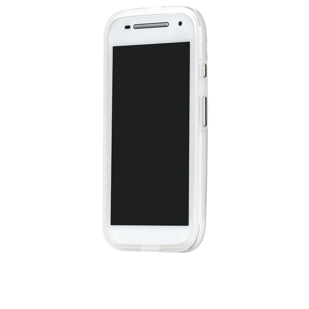 Moto E (2nd Gen.) Clear Naked Tough Case - image angle 4