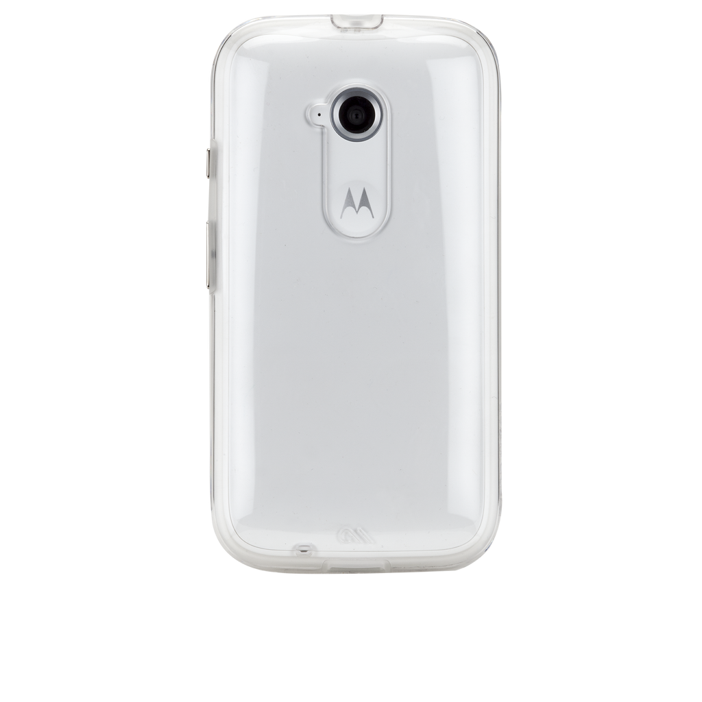 Moto E (2nd Gen.) Clear Naked Tough Case - image angle 7