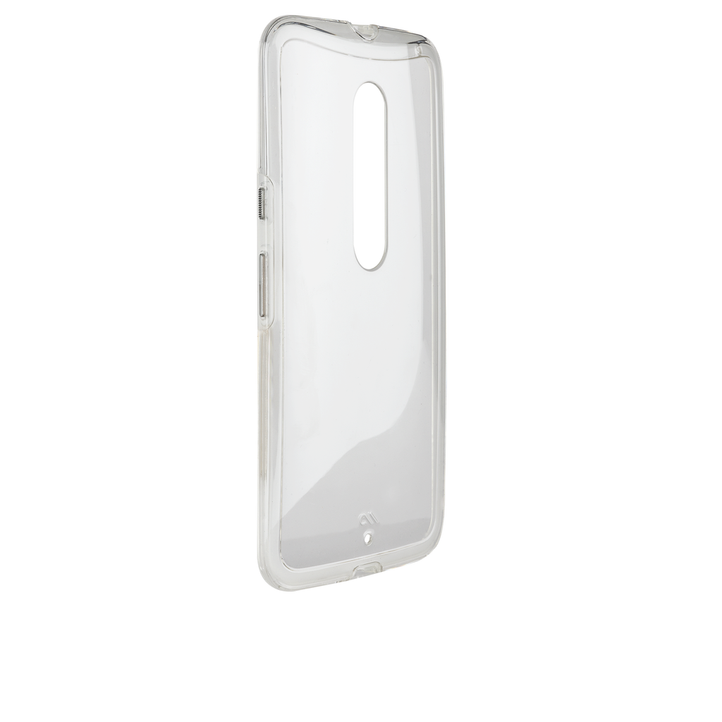 Moto X Pure Edition Clear Naked Tough Case - image angle 11