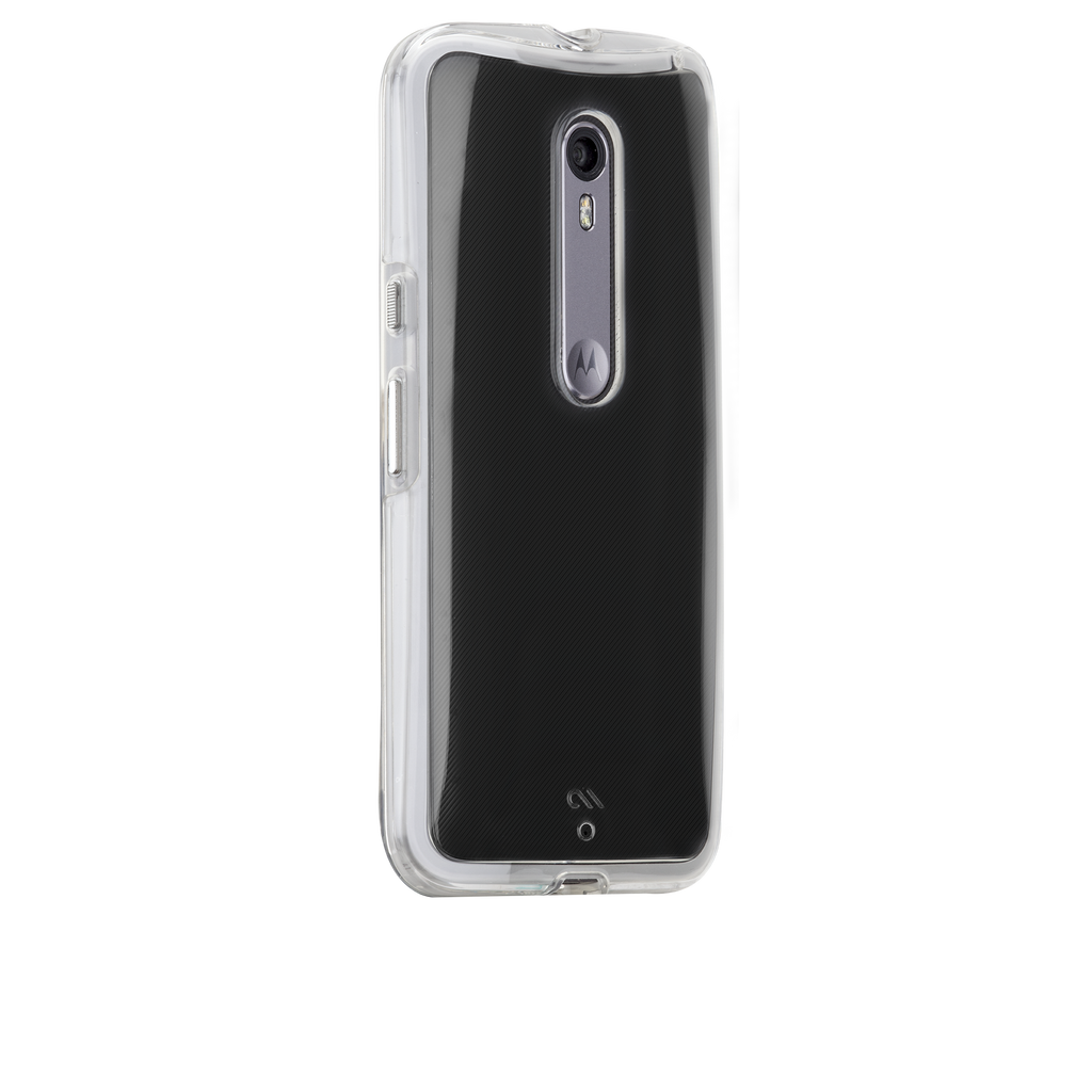 Moto X Pure Edition Clear Naked Tough Case - image angle 1