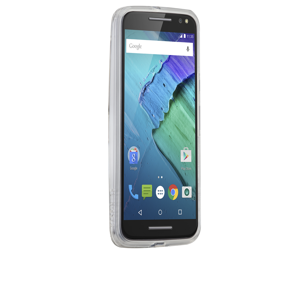 Moto X Pure Edition Clear Naked Tough Case - image angle 2
