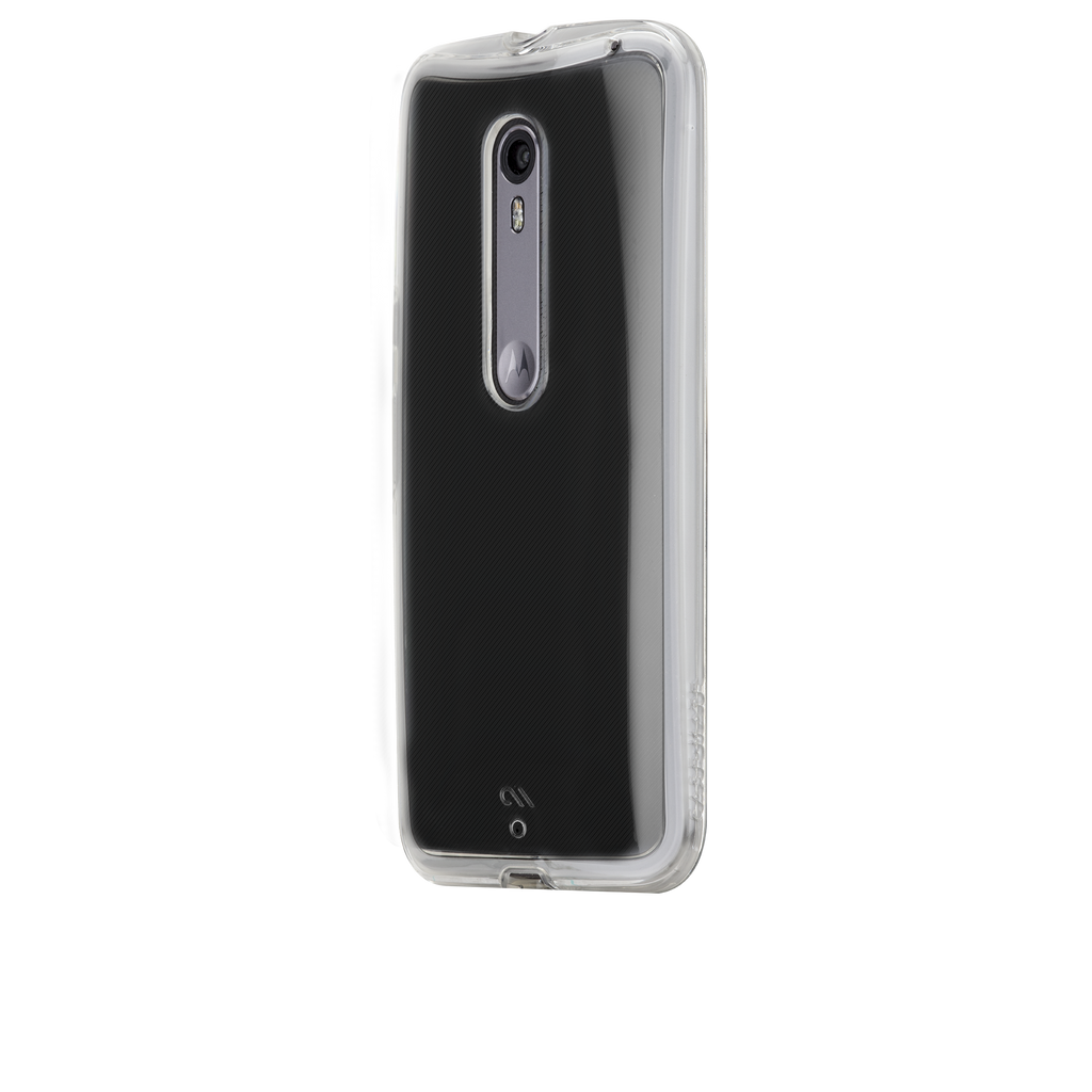 Moto X Pure Edition Clear Naked Tough Case - image angle 3