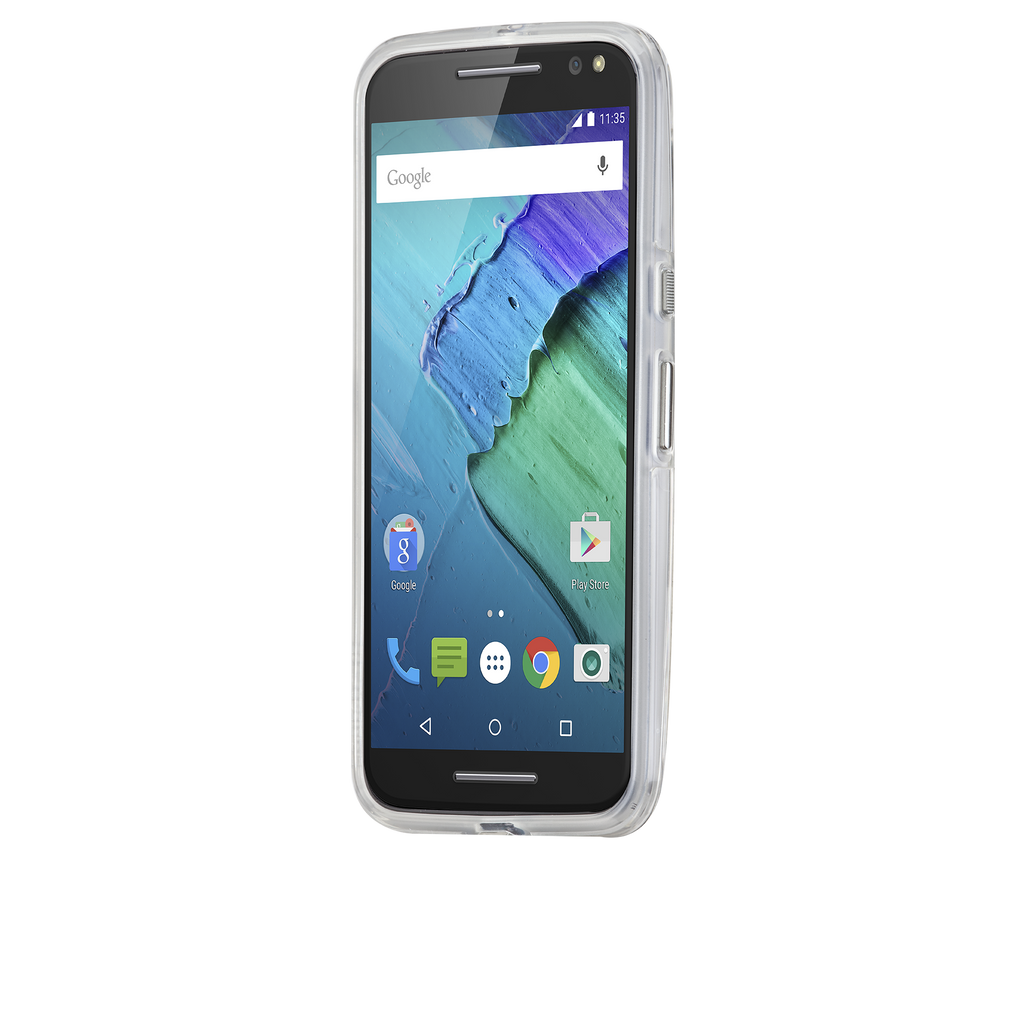 Moto X Pure Edition Clear Naked Tough Case - image angle 4