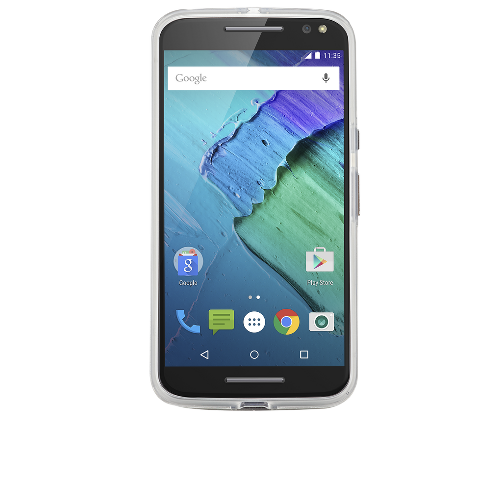 Moto X Pure Edition Clear Naked Tough Case - image angle 6