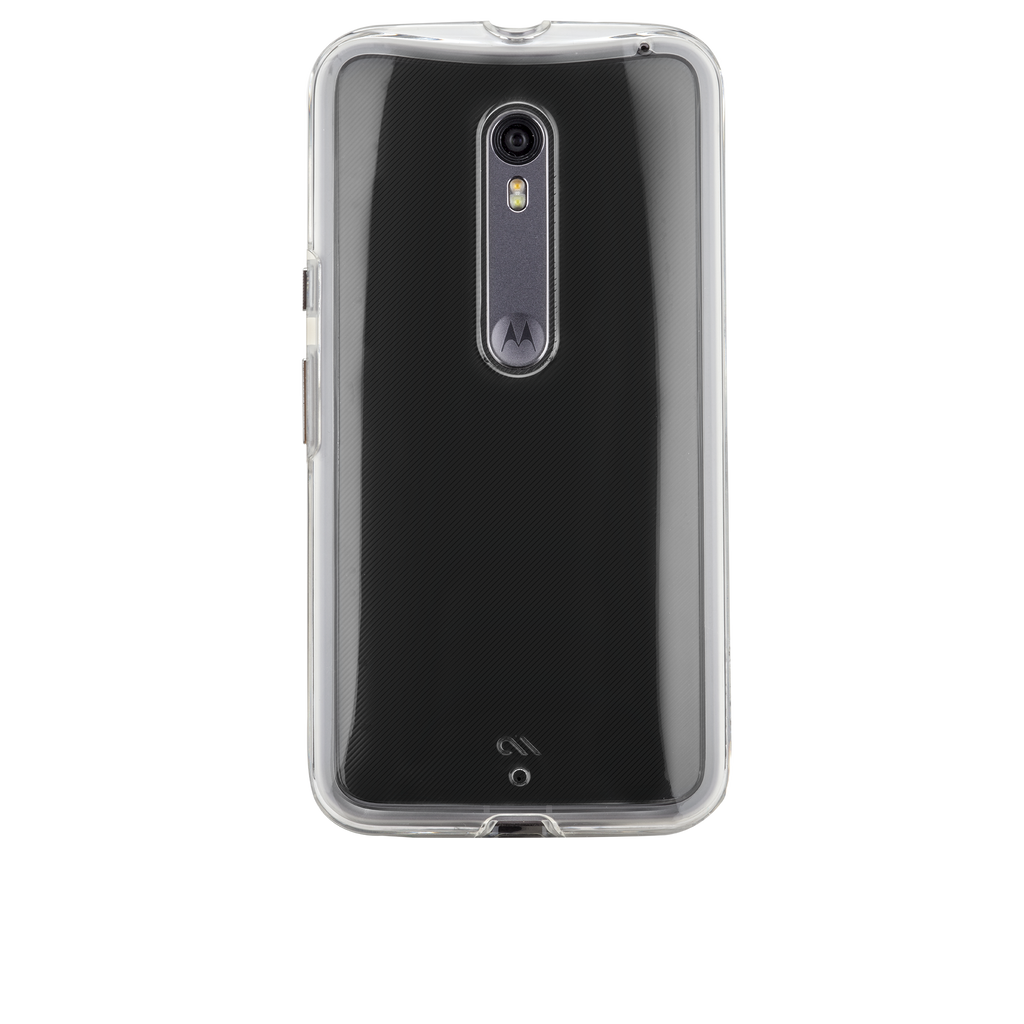Moto X Pure Edition Clear Naked Tough Case - image angle 7
