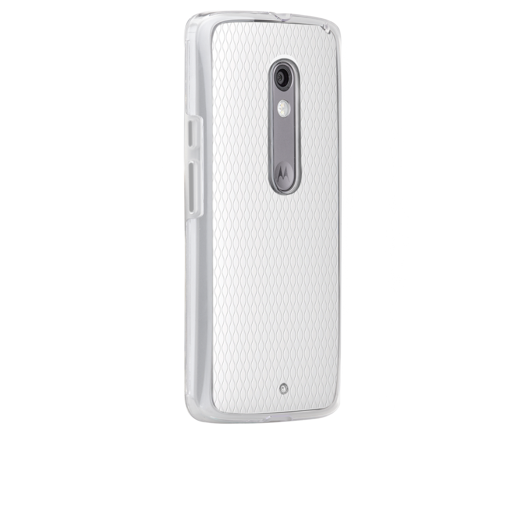 Moto X Play / Droid Maxx 2 Clear Naked Tough Case - image angle 1
