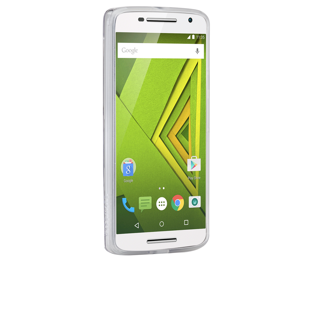 Moto X Play / Droid Maxx Clear Naked Tough Case - image angle 2