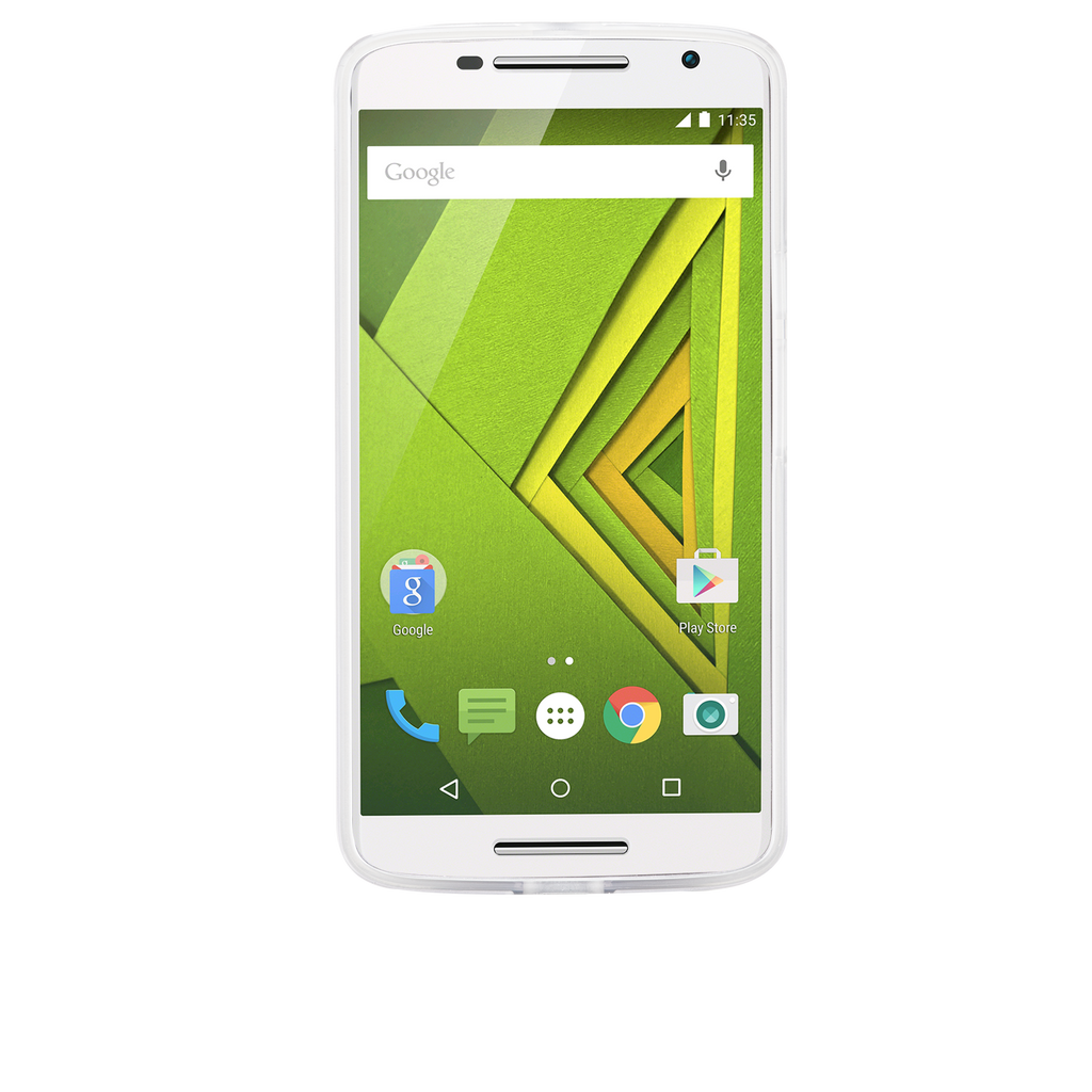 Moto X Play / Droid Maxx Clear Naked Tough Case - image angle 6