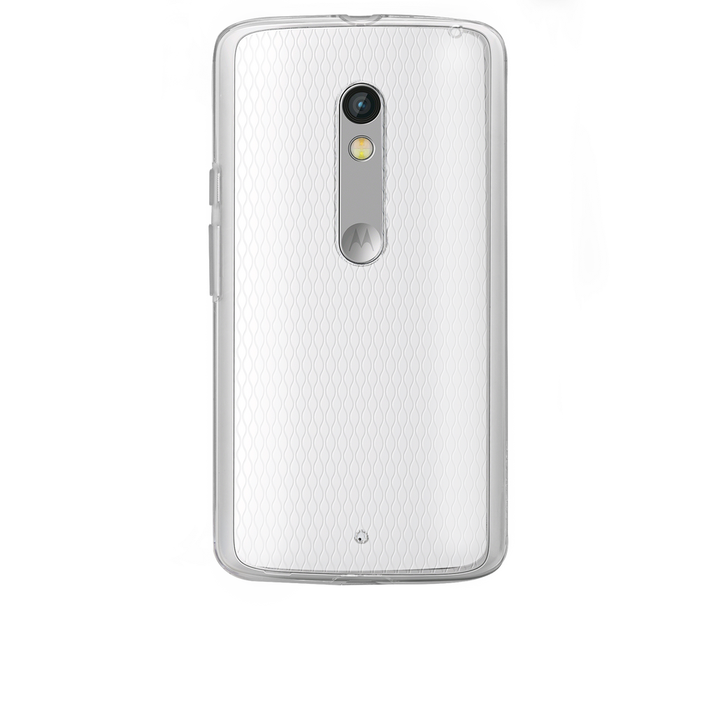 Moto X Play / Droid Maxx Clear Naked Tough Case - image angle 7