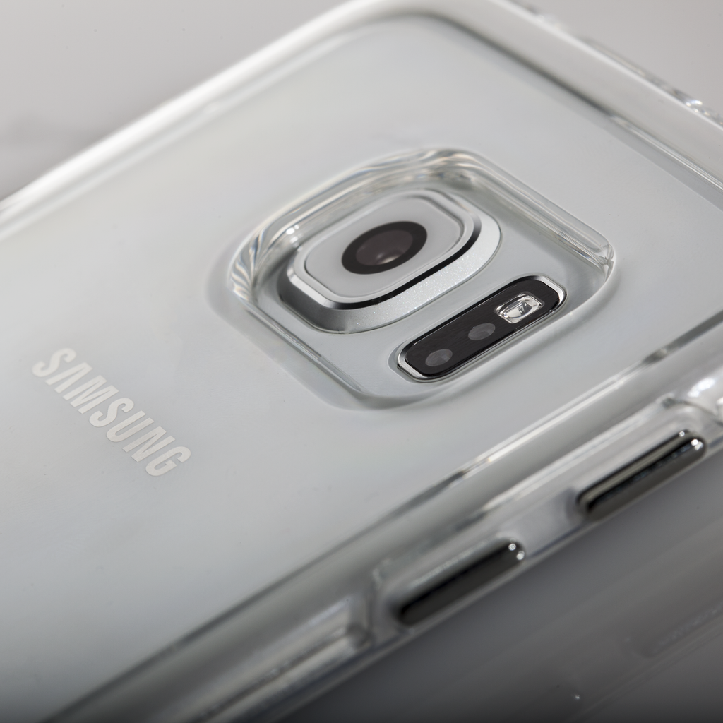 Samsung Galaxy S6 Edge Clear & Clear Naked Tough Case - lifestyle angle 2