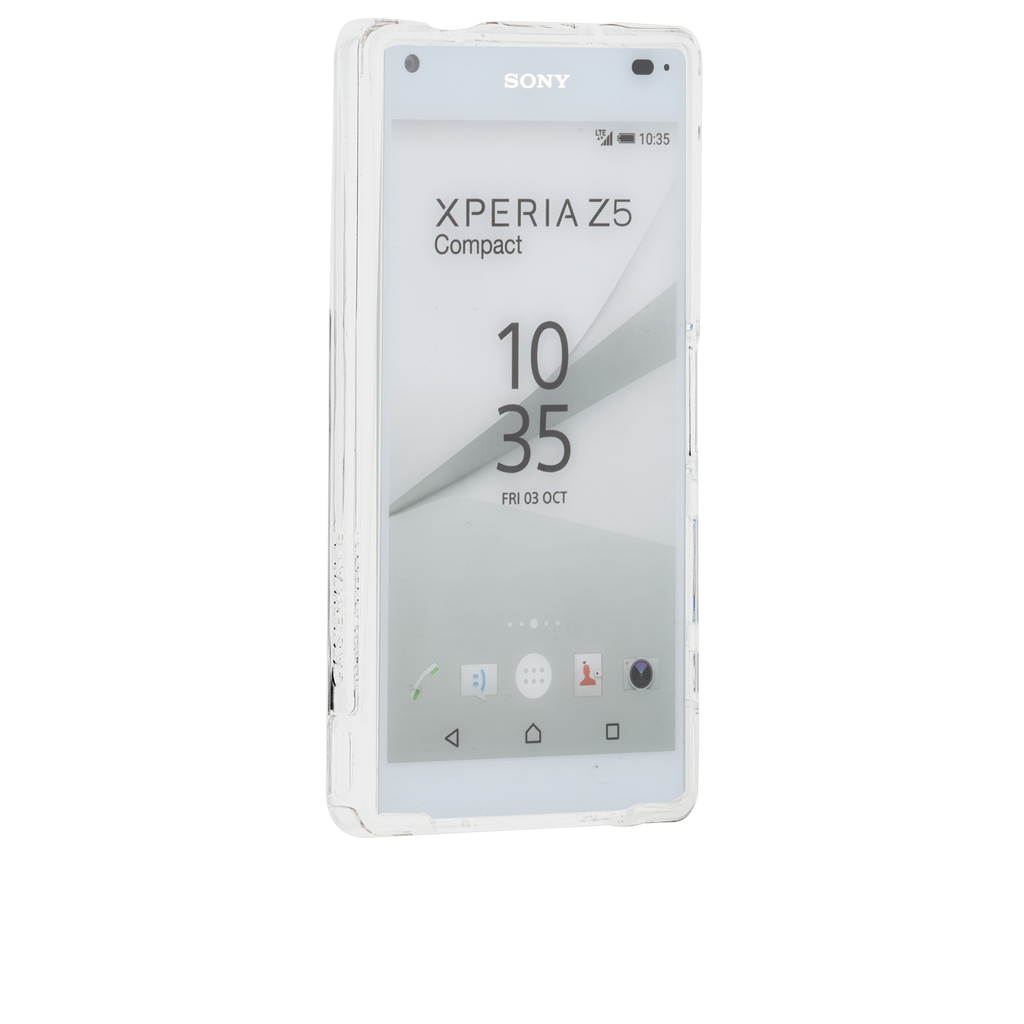 Sony Xperia Z5 Compact Clear Naked Tough Case - image angle 2