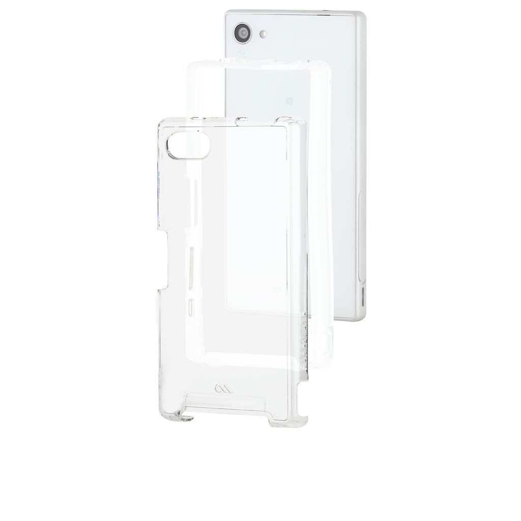 Sony Xperia Z5 Compact Clear Naked Tough Case - image angle 8