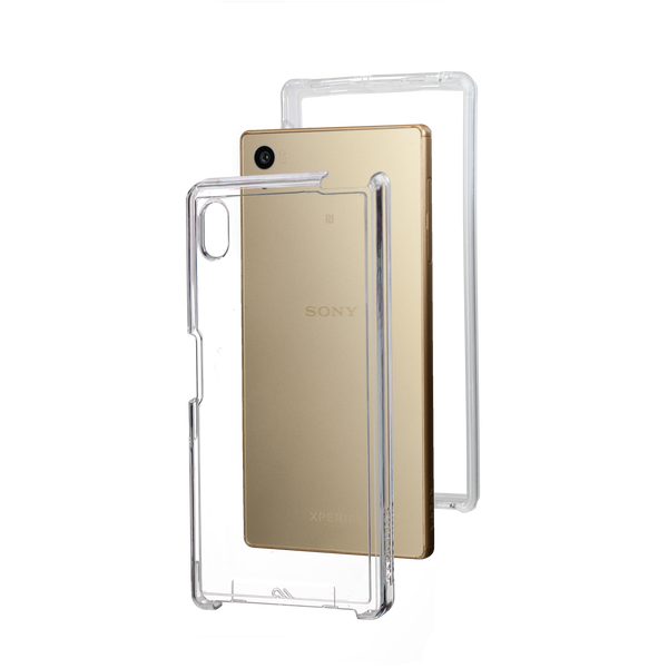 Sony Xperia Z5 Clear Naked Tough Case - image angle 8