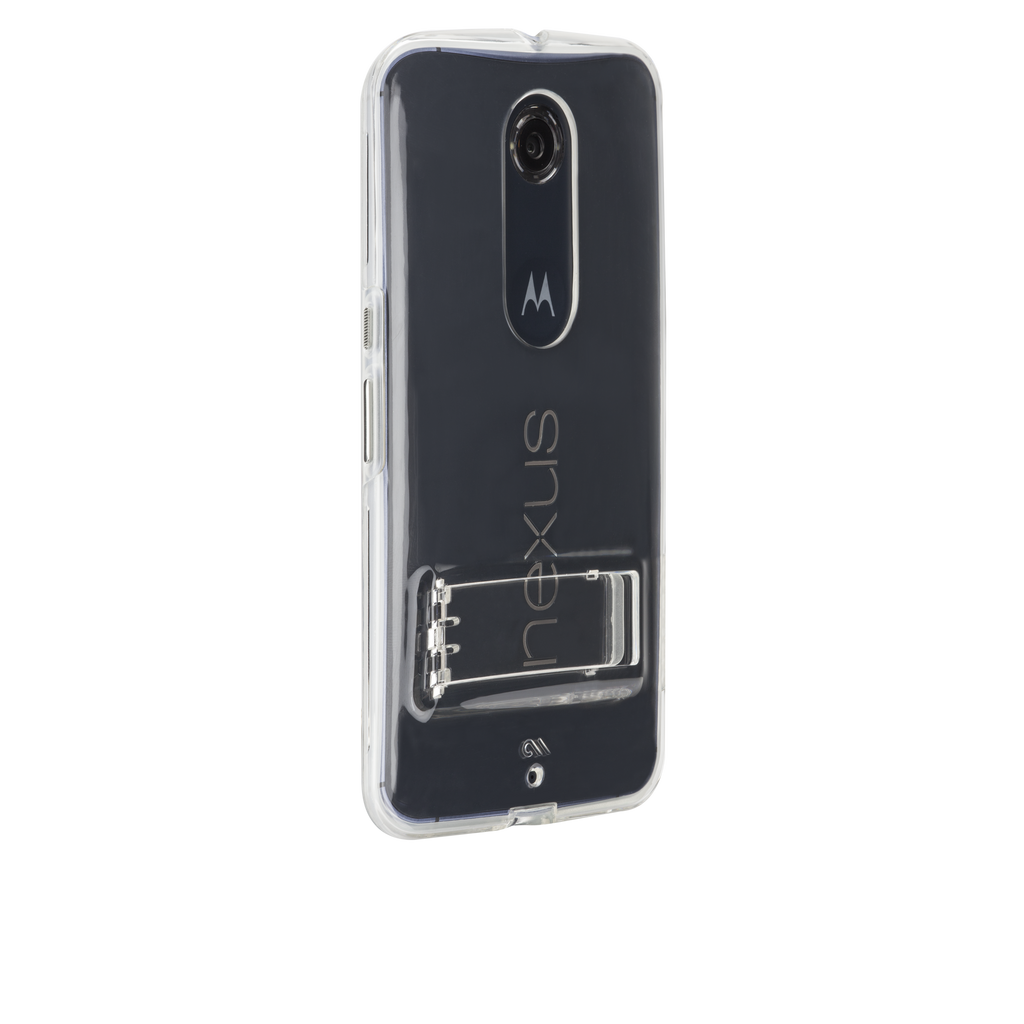 Nexus 6 Clear & Clear Bumper Naked Tough Case - image angle 1