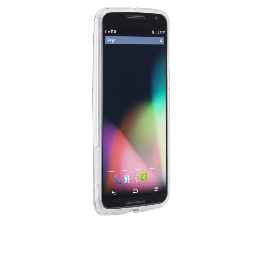 Nexus 6 Clear & Clear Bumper Naked Tough Case - image angle 2